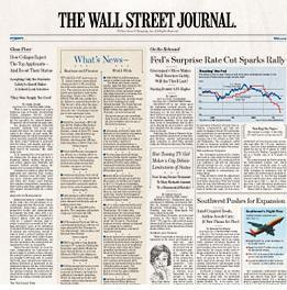 wall street journal about dow jones index