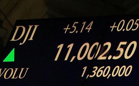 курс индекса доу джонса выше отметки 11000